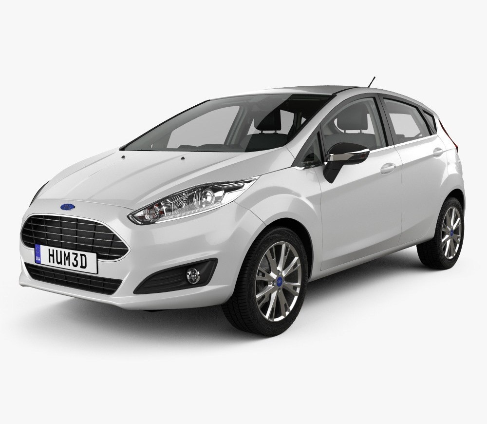 Ford Fiesta 5 Door With Hq Interior 2013 3d Model Hb