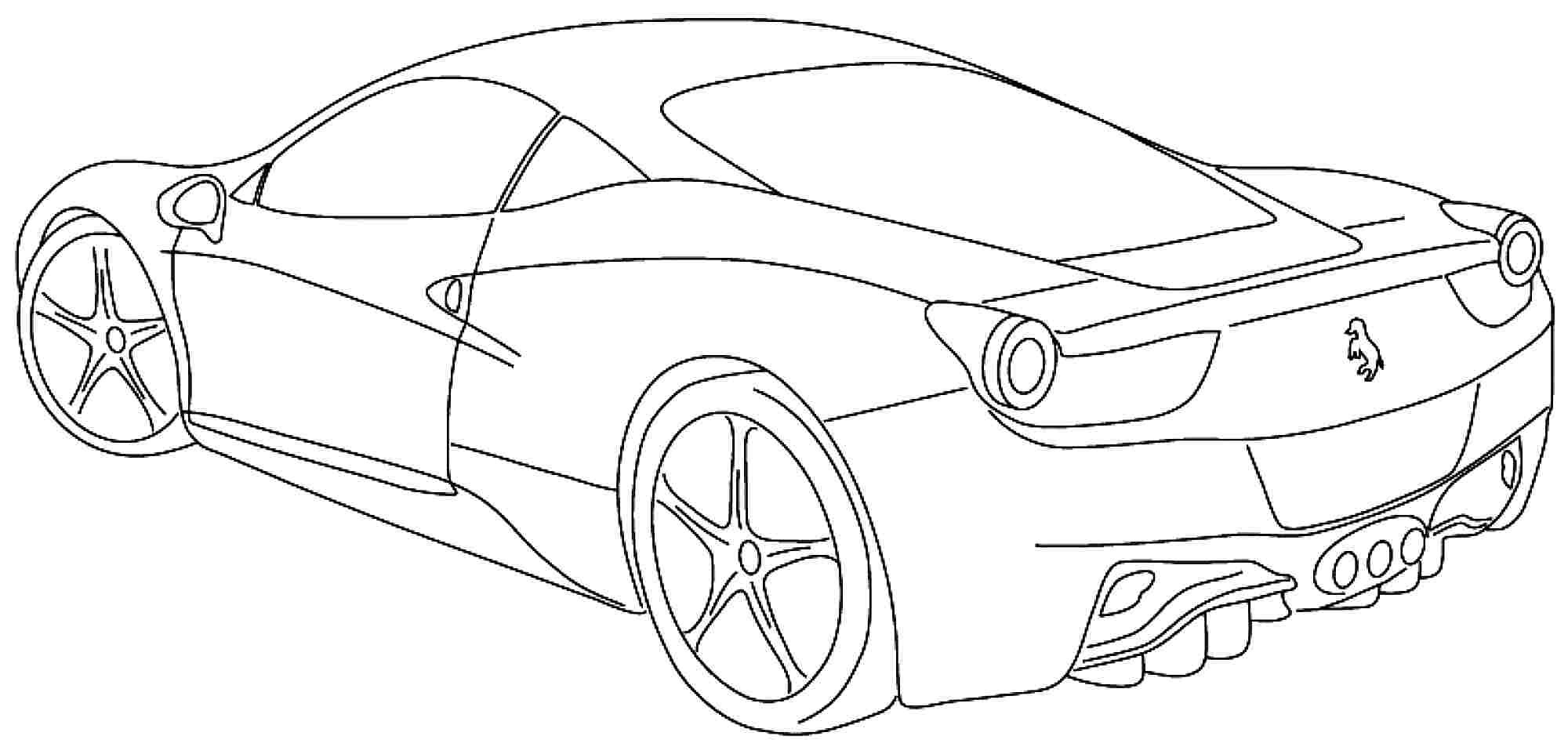 Ferrari coloring pages | Cars coloring pages, Ferrari 458, Ferrari | 962x2000