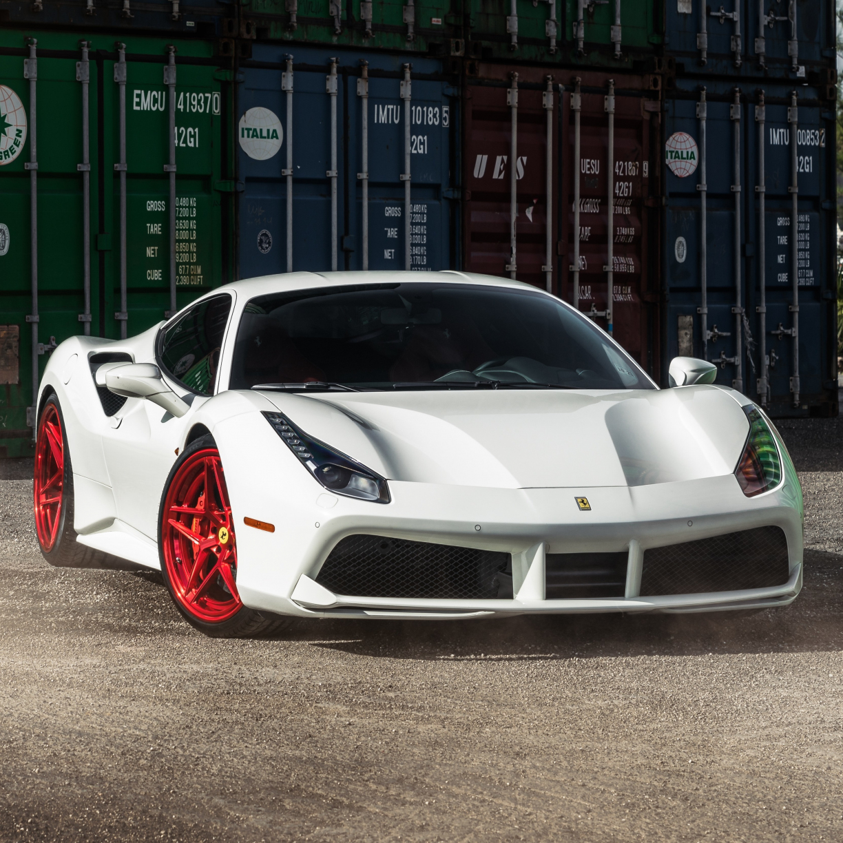 Desktop Wallpaper Ferrari 458 Italia White Sports Car Hd