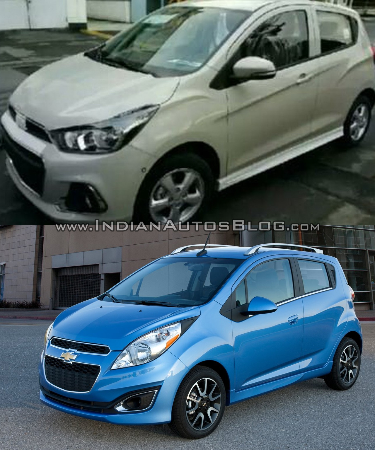 Chevrolet Spark 2016 Old Vs New Photo Gallery India