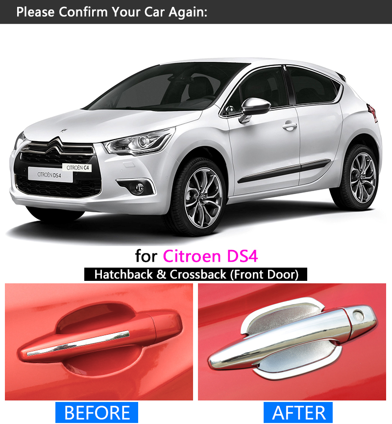 Us 8 09 40 Off For Citroen Ds4 2010 2017 Chrome Handle