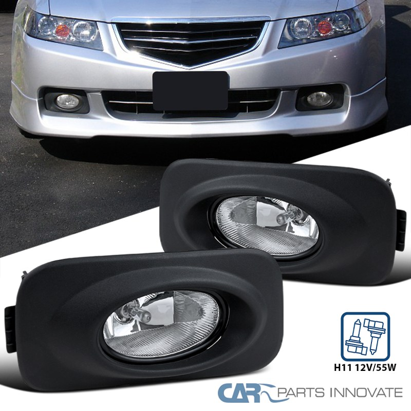 Details About For 04 05 Acura Tsx Clear Lens Fog Lights