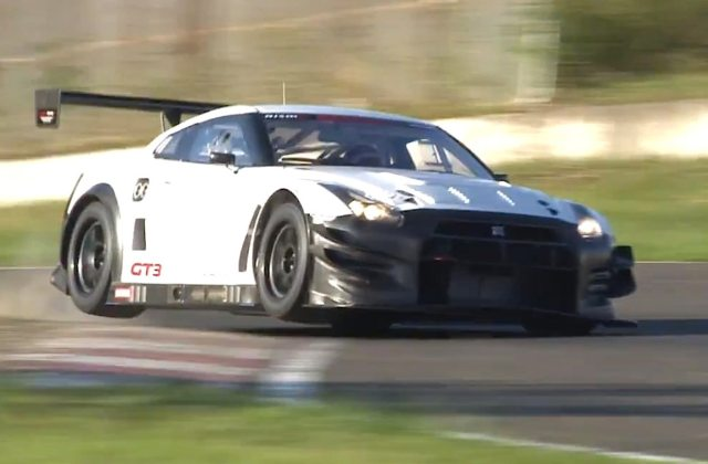 upgraded 2013 nissan gt r nismo gt3 racer hits the track - medium