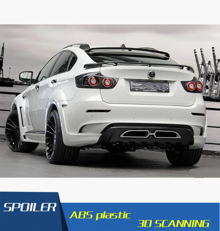 Us 35 1 46 Off For Bmw X6 F16 Spoiler High Quality Abs Material Car Rear Wing Primer Color 2010 2014 In Spoilers Photos - Medium