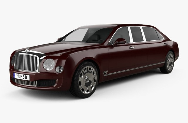 Bentley Mulsanne Grand Limousine Mulliner 2017 3d Model Wallpaper - Medium