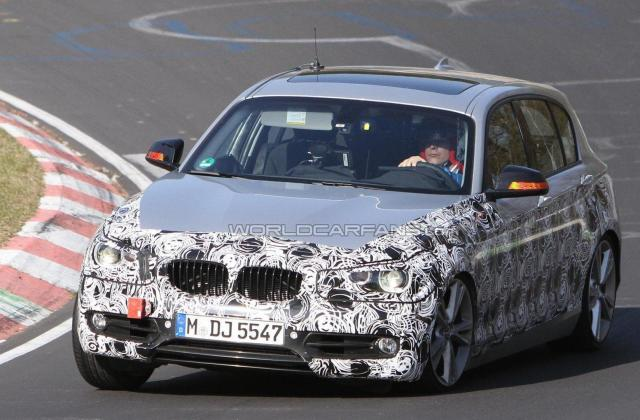 2012 Bmw 1 Series 5 Door Spied With Less Camo On The N Rburgring Special Editions - Medium