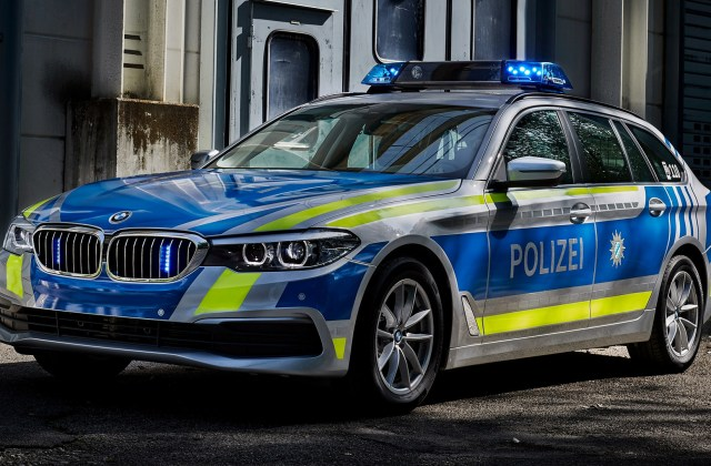 2017 Bmw 5 Series Touring Polizei Wallpapers And Hd - Medium