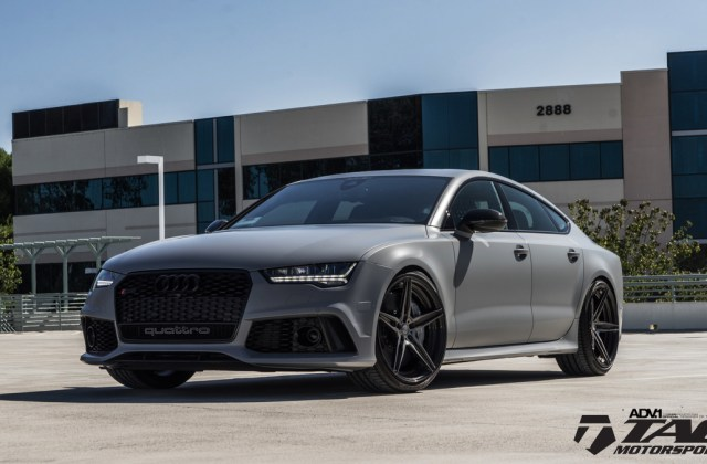 Nardo Gray Never Looked This Good A 2017 Audi Rs7 With Adv 1 S Sporty Gold Mags Bmw Wallpaper - Medium
