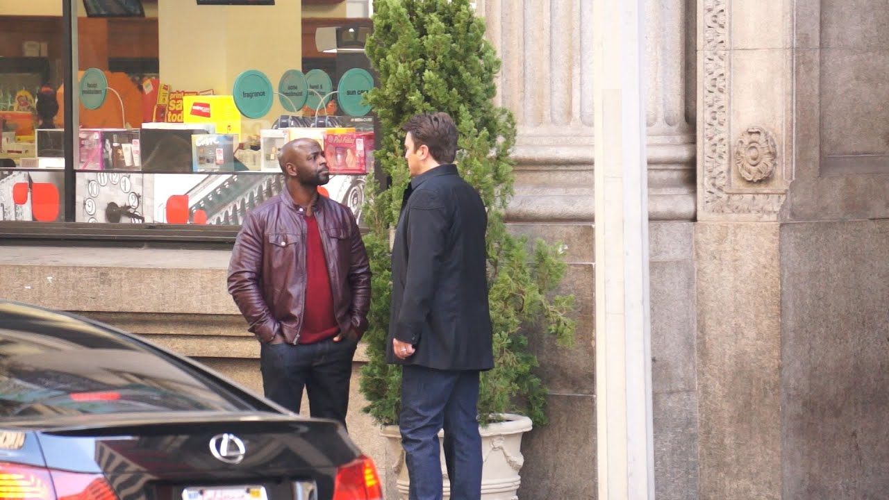 castle ep 7 11 filming on location w alimi ballard acura - medium