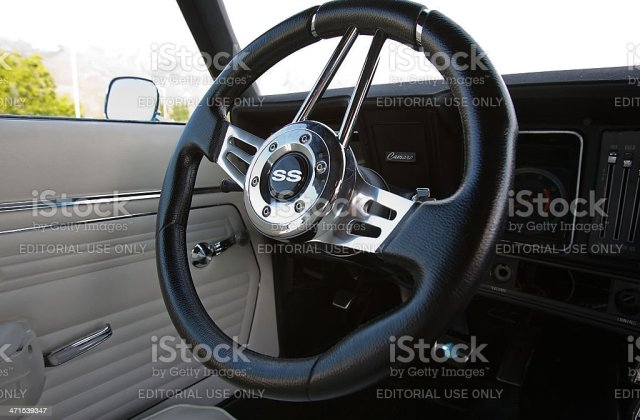 chevrolet camaro ss 1967 interior steering wheel stock photo photos - medium