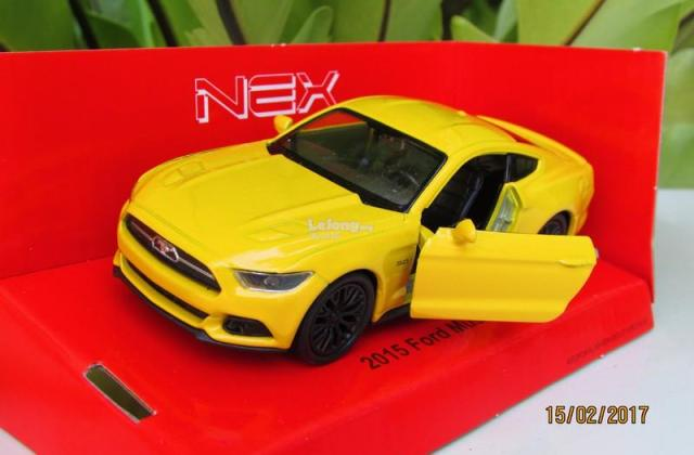 Welly 11cm Diecast Car 2015 Ford Mustang Gt Yellow - Medium