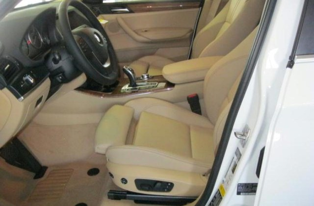 Sand Beige Nevada Leather Interior 2011 Bmw X3 Xdrive 35i Photo - Medium