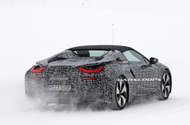 spy shots up close with the all new bmw i8 spyder bmwcoop photo - medium