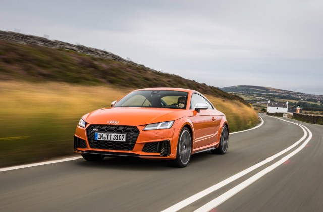 2019 Audi Tts Coupe On The Famed Mountain Course At Tt Wallpaper - Medium