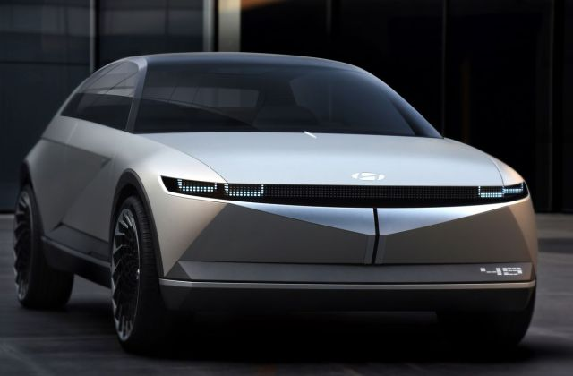 hyundai s 45 electric concept car is a futuristic blast from vehicle - medium