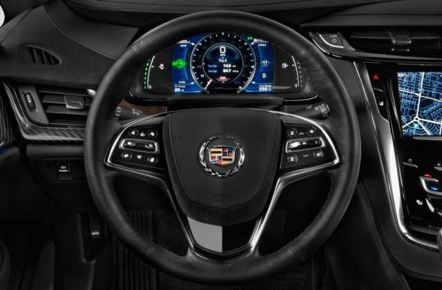 Image 2014 Cadillac Elr 2 Door Coupe Steering Wheel Size Electric Commercial - Medium