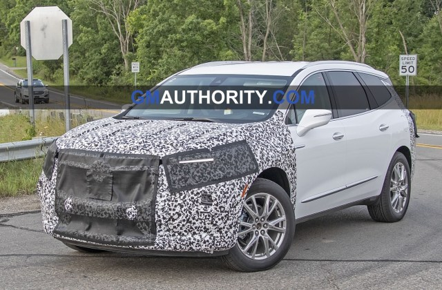 buick enclave refresh spied testing for the first time gm spy photos 2014 - medium