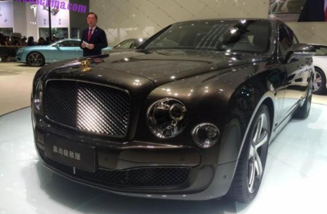 bentley mulsanne mulliner 24k gold edition launched in china - medium