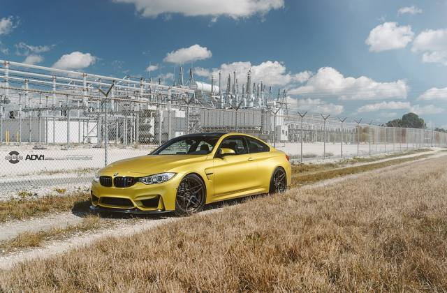 Gold Bmw 4 Series Coupe M4 Adv 1 Wheels Hd Sporty Mags 2017 Wallpaper - Medium