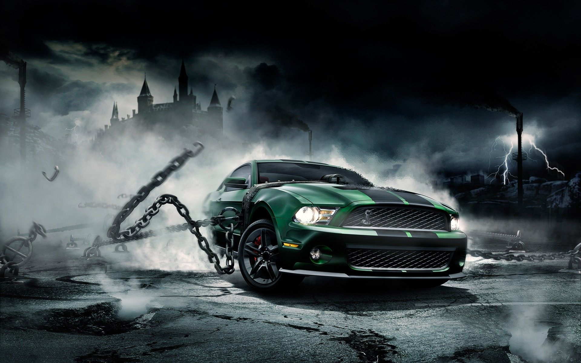 Hd Wallpaper For Pc 1920x1080 Free Download 2 Mustangs In Ford Mustang - Medium