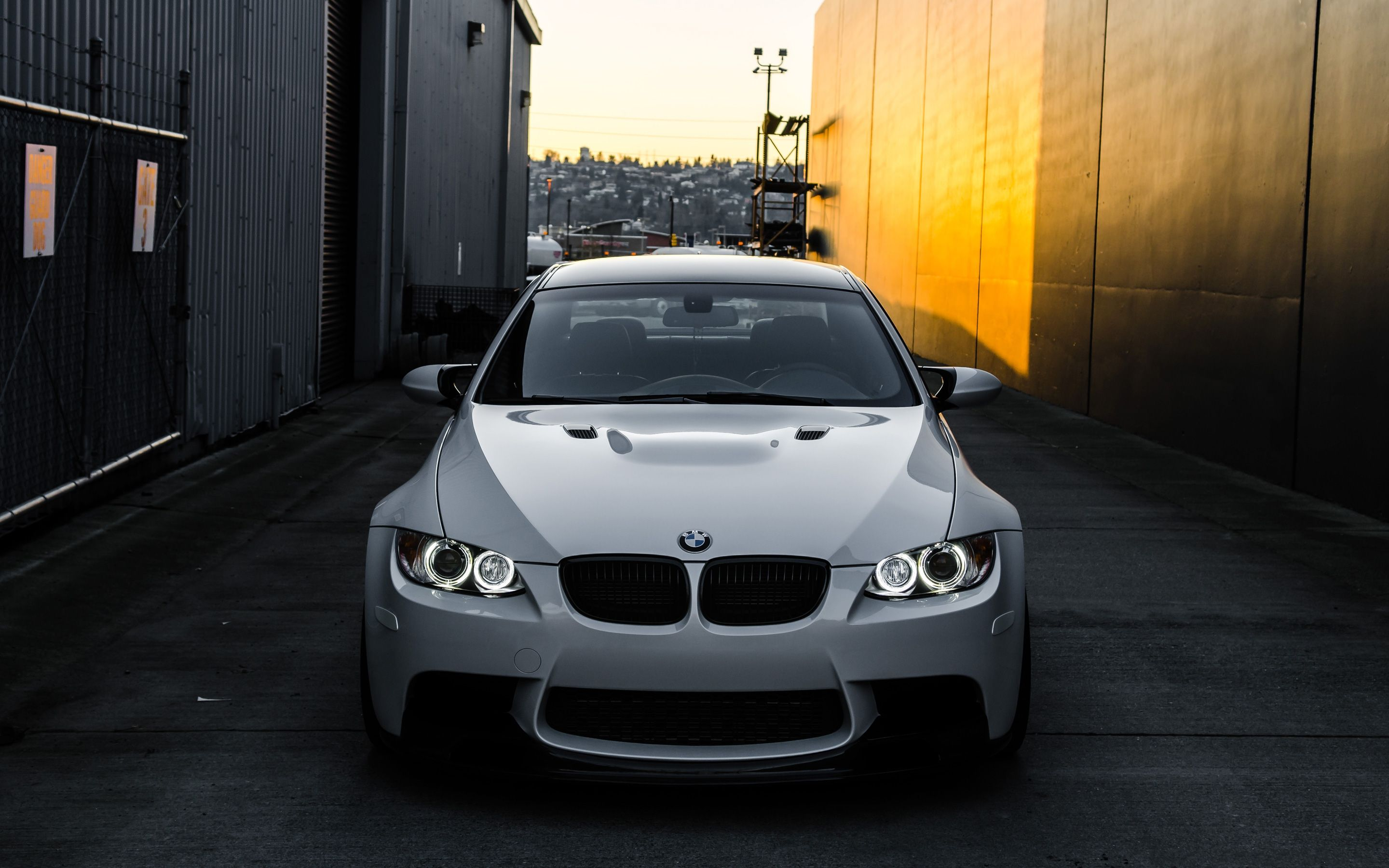 Blue Bmw M2 Car On City Street At Night Wallpapers And Images Sporty Black 2017 Wallpaper - Medium