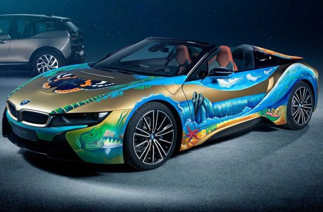 bmw i8 roadster 4 elements art car will help clean our spy photo - medium