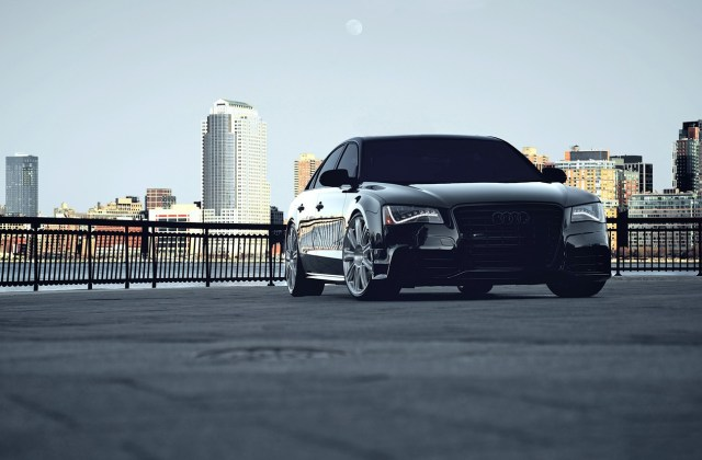 Wallpaper Car City Audi Black Cars Auto Wallpapers A8 For Iphone - Medium
