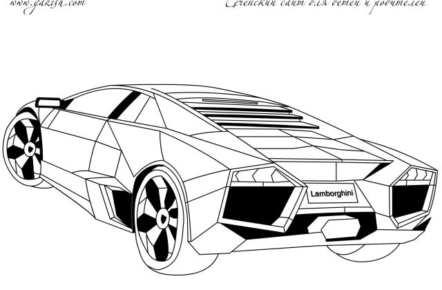 Ferrari Enzo Car coloring page | Free Printable Coloring Pages | 420x640