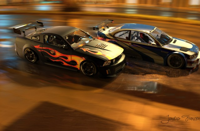Bmw M3 Gtr Ford Mustang Need For Speed Sports Car Nfs Most Wanted Wallpaper - Medium