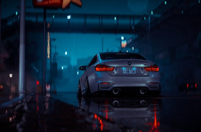 Wallpaper Auto Night The Game Bmw Machine Car Nfs M4 Wallpapers - Medium