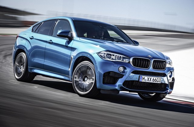 2015 Bmw X6 M In Long Beach Blue Color Front Photo Sport Wallpaper - Medium