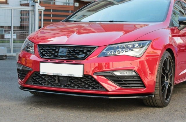 front splitter v 1 seat leon mk3 cupra fr facelift gloss - medium