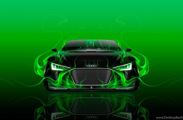 Audi E Tron Spyder Front Fire Abstract Car 2015 Wallpapers R8 Ipod Touch Wallpaper - Medium