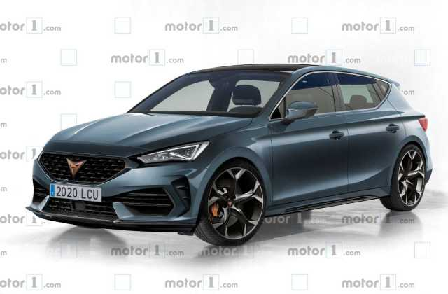 2021 cupra leon rendering takes after the spy shots seat - medium