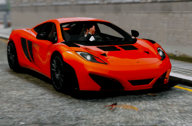 Mclaren Mp4 12c Gt3 Kits Auto Spoiler Add On Gta5 - Medium