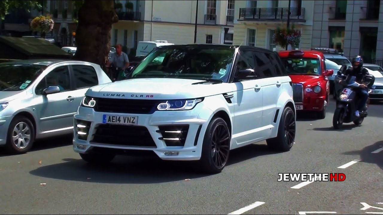 2x range rover lumma clr rs on the streets of london - small