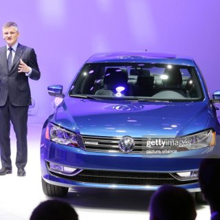 ceo of volkswagen amercia michael horn presents the vw golf r