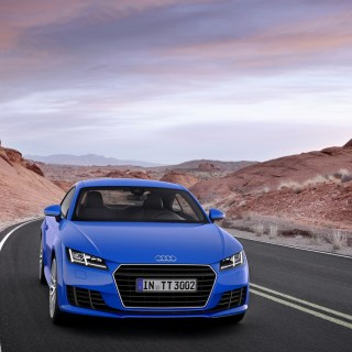 Wallpaper Audi Tt The Sky Mountains Blue Tts Coupe - small