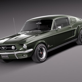Ford mustang fastback 1967 photo - small