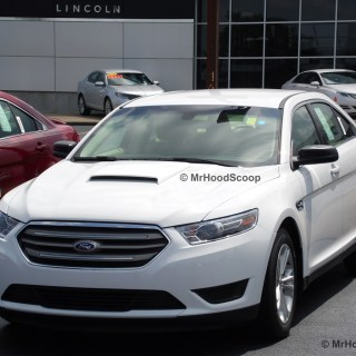 2013 2017 ford taurus hood scoop kit with grille insert hs003 unpainted or painted photos - small