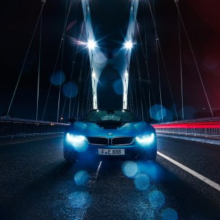 vehicle car bridge rain bmw i8 wallpapers hd wallpaper for mobile - small