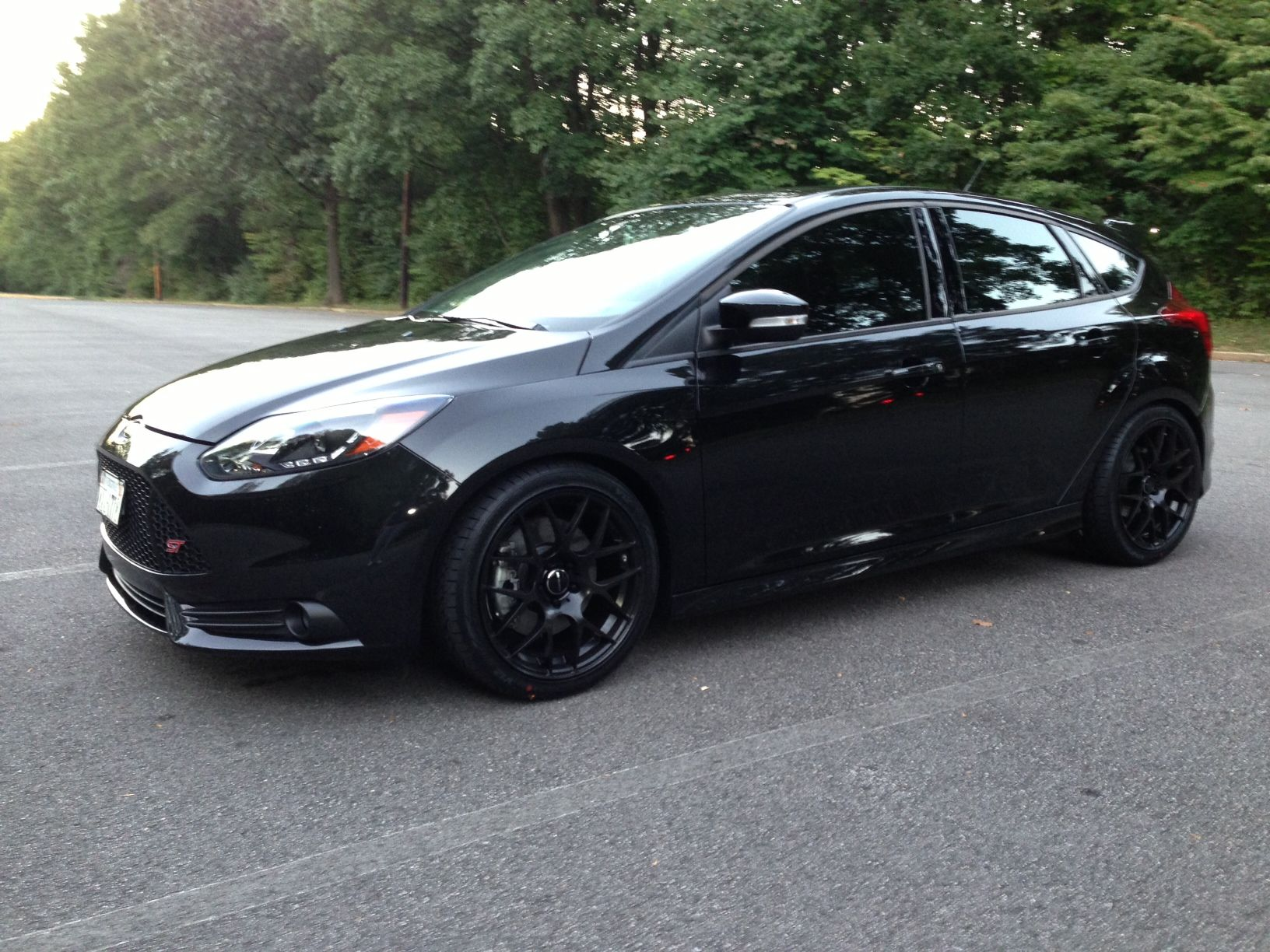 All black ford focus st rims photo - small