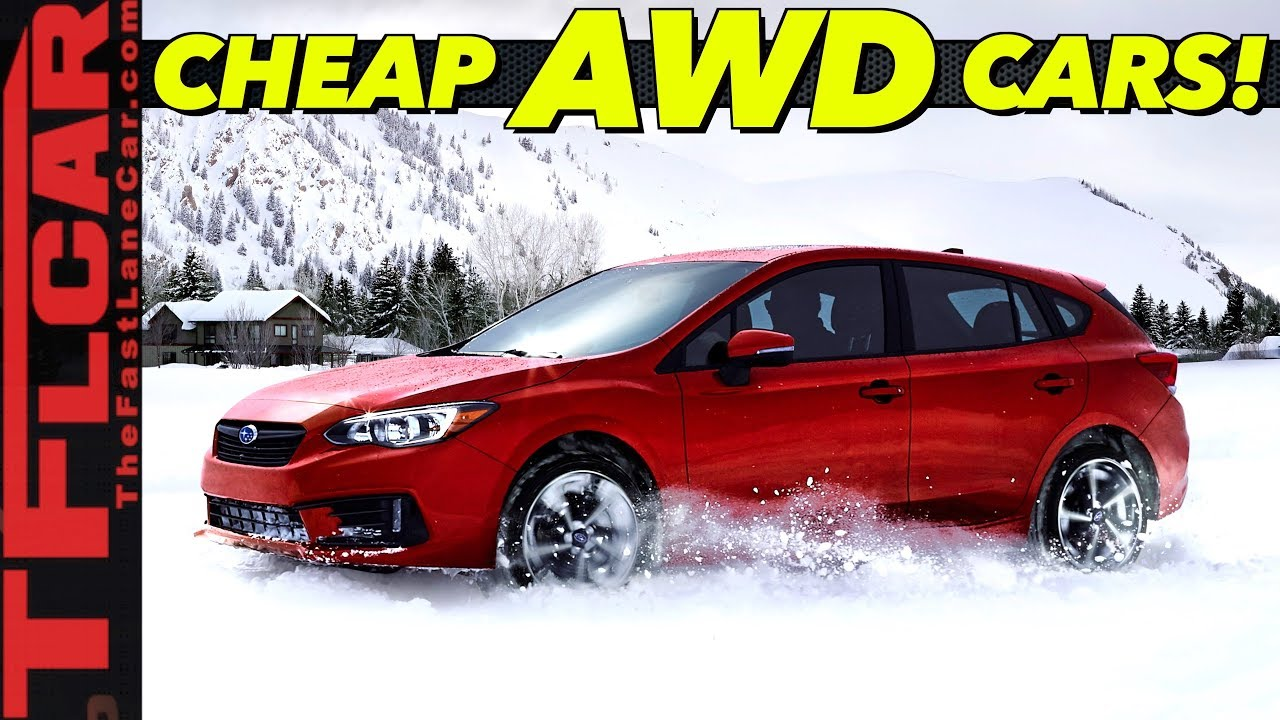 budget awd traction these are the top 10 cheapest all wheel drive cars you can buy best
