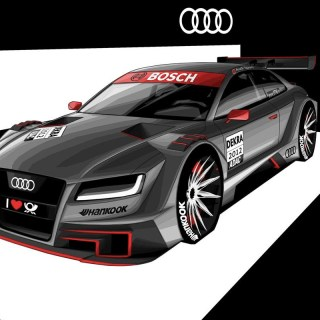 2012 Audi A5 Dtm R17 Concept Render Unveiled Performancedrive - small