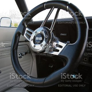chevrolet camaro ss 1967 interior steering wheel stock photo photos