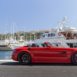 Wallpaper mercedes benz red sls amg hamann hawk images based on - small