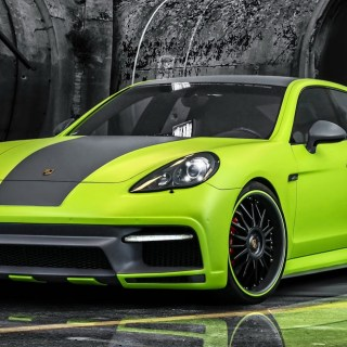 lime green porsche panamera turbo with 600 hp autoevolution cayenne s diesel