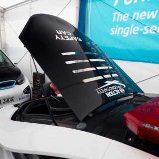 driven bmw i8 safety car features - small