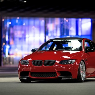 wallpaper bmw e92 m3 red car front view 1920x1200 hd picture 1024x768