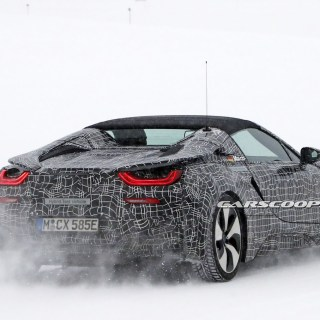 spy shots up close with the all new bmw i8 spyder bmwcoop photo